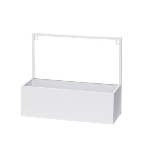 4Living Seinähylly Box valkoinen