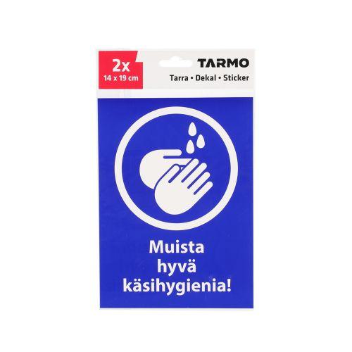 TARMO MERKKITARRA MUISTA HYVÄ KÄSIHYGIENIA 14X19 CM 2KPL
