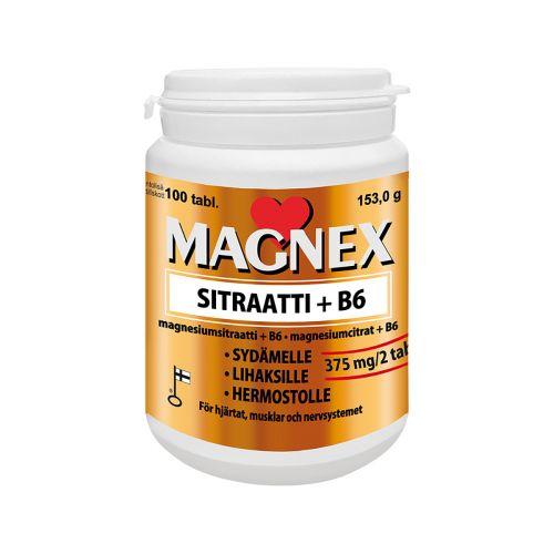 MAGNEX SITRAATTI + B6  100 KPL
