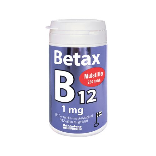 Vitabalans Betax B12 1mg imeskelytabl. 220kpl