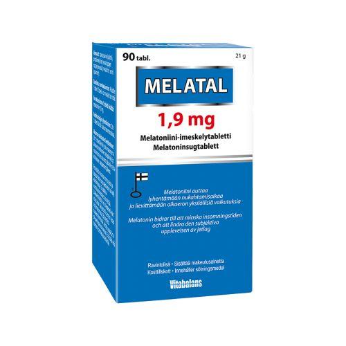 MELATAL 1,9MG MELATONIINIVALMISTE 90 KPL