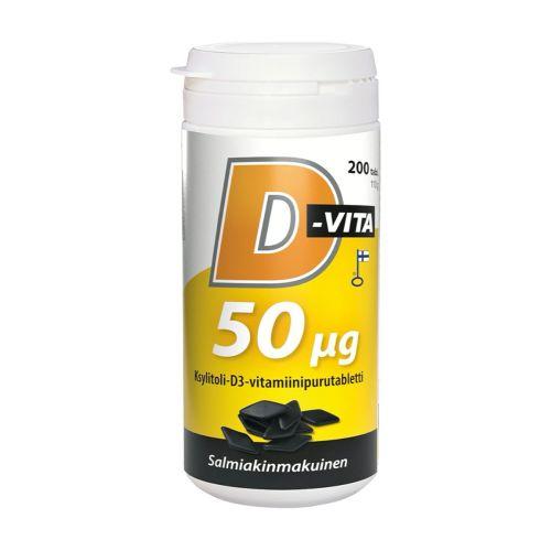 D-VITA 50 MIKROGR. SALMIAKKI 200 KPL