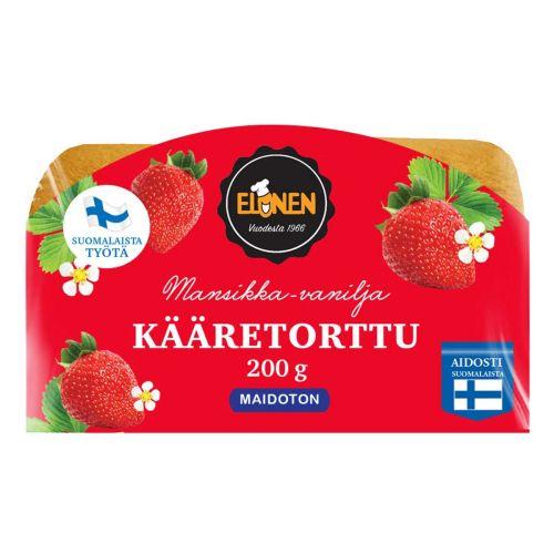ELOSEN KÄÄRETORTTU MANSIKKA-VANILJA 200 G