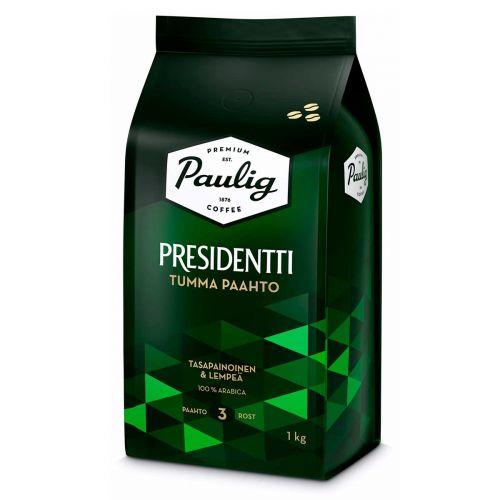 PAULIG PRESIDENTTI TUMMAPAAHTO PAPUKAHVI  1kg