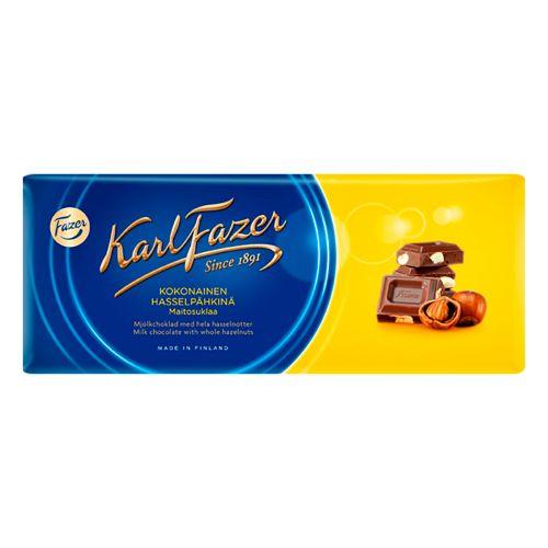 Karl Fazer Kokonainen hasselpähkinä maitosuklaalevy 200g