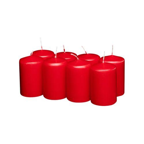 Havi kilopöytäkynttilä  8-pack punainen