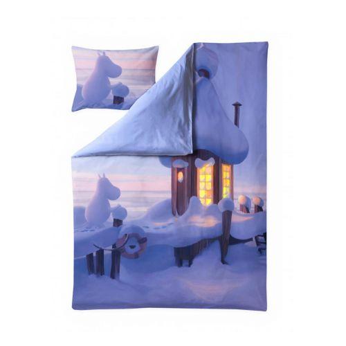 Finlayson satiinipussilakanasetti Muumilaakson talvi multi 150x210 + 50x60