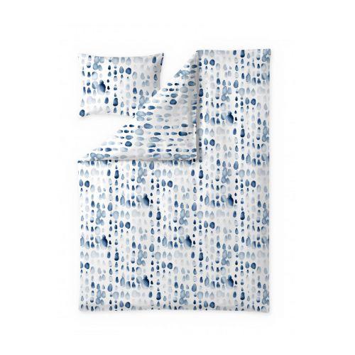 Finlayson satiinipussilakanasetti Sula valkoinen/sininen 150x210 + 50x60
