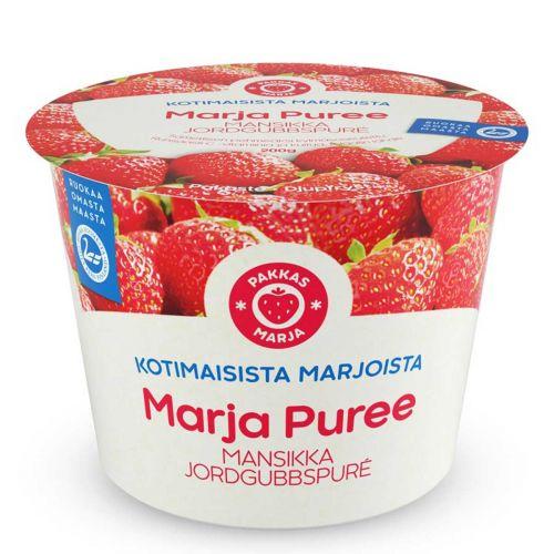 PAKKASMARJA MARJA PUREE SUOMALAINEN MANSIKKASOSE 200 G