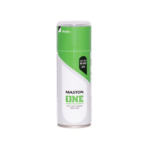 MASTON SPRAYMAALI ONE SATIINI VAALEANVIHREÄ RAL6018 400ML