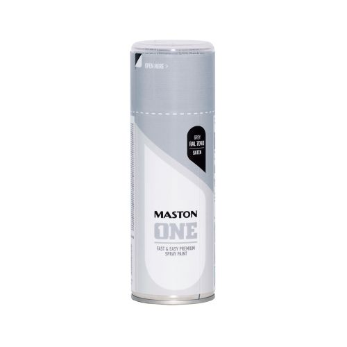 MASTON SPRAYMAALI ONE SATIINI HARMAA RAL7040 400ML