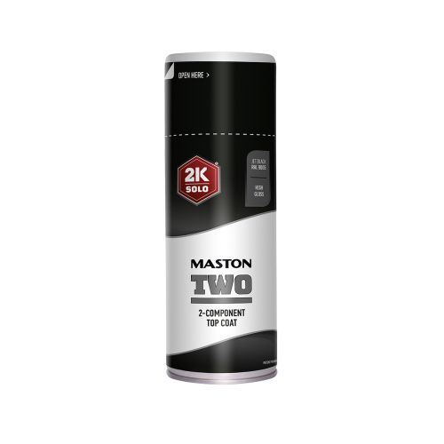 MASTON SPRAYMAALI 2K TWO SYVÄNMUSTA RAL9005 400ML