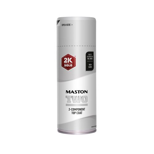 MASTON SPRAYMAALI 2K TWO VAALEA ALUMIINI RAL9006 400ML