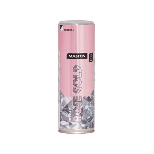 MASTON SPRAYMAALI METALLIC RUUSUKULTA 400ML