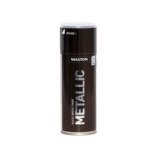 MASTON SPRAYMAALI METALLIC MUSTA 400ML