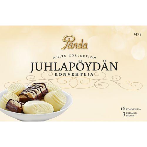 PANDA JUHLAPÖYDÄN KONVEHTEJA WHITE 145 G