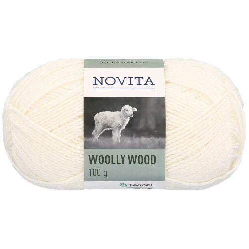 NOVITA WOOLLY WOOD 100G LUONNONVALKOINEN
