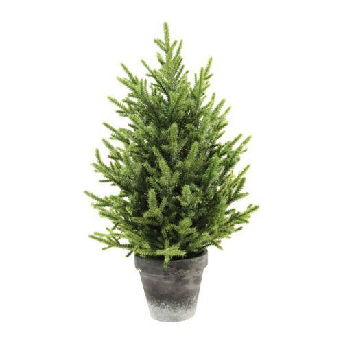 Kuurakuusi 40cm vihreä, harmaa ruukku