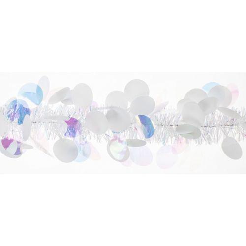 Weiste Paljettipunos Iris/valk. 85mmx2m