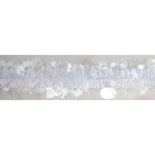 Paljetti/tähtipunos lumi pilkku/valkoinen 90mmx2m