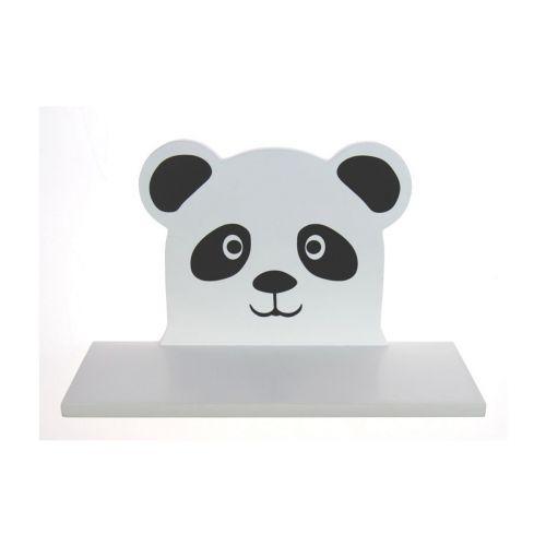 Pandahylly 23x9x13cm valkoinen/musta