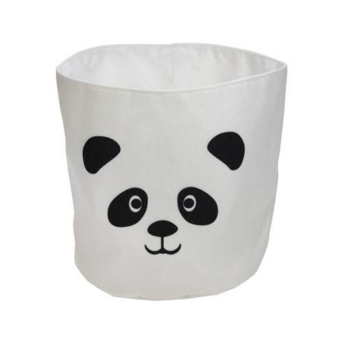 Panda -kangaspussi 20x20cm mustavalkoinen