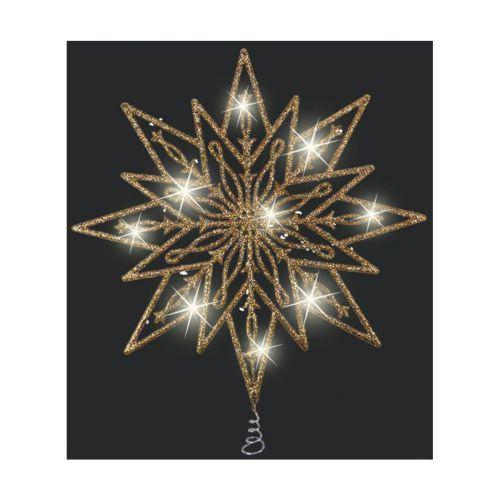 Weiste 25cm Filigraani latvatähti kulta glitteri LED valoilla