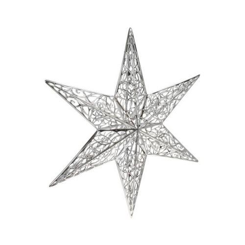 350mm 3D filigraanitähti kirkas hopea