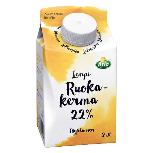 ARLA LEMPI RUOKAKERMA 22% LAKTON 200 ML