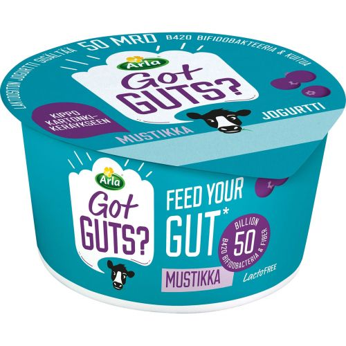 ARLA FEED YOUR GUT JOGURTTI MUSTIKKA LAKTON 150 G