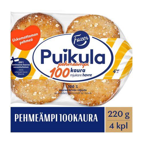 FAZER PUIKULA PEHMEÄMPI 100KAURA 4KPL 220 G