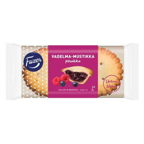 FAZER VADELMA-MUSTIKKAPIIRAKKA 2KPL 140 G