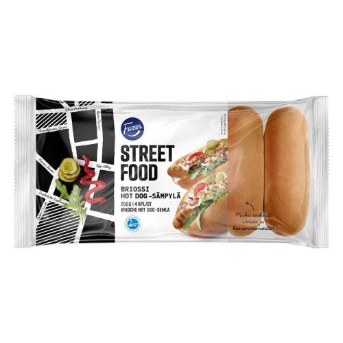 FAZER STREET FOOD BRIOSSI HOT DOG -SÄMPYLÄ 4KPL 200 G