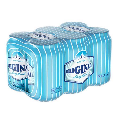 ORIGINAL LONG DRINK 5,5% GRAPEFRUIT 0,33 TLK 6-PACK 1,98 L