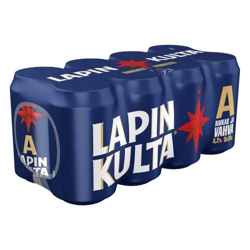 LAPIN KULTA 5,2% 0,33 TLK 8-PACK 2,64 L