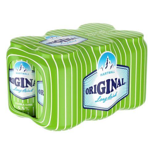 ORIGINAL LONG DRINK 5,5% VODKA-LIME 0,33 TLK 6-PACK 1,98 L