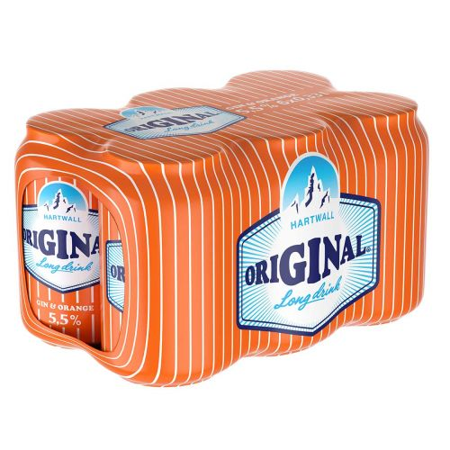 ORIGINAL LONG DRINK 5,5% ORANGE 0,33 TLK 6-PACK 1,98 L