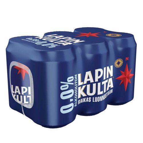 LAPIN KULTA 0% 0,33 TLK 6-PACK 1,98 L