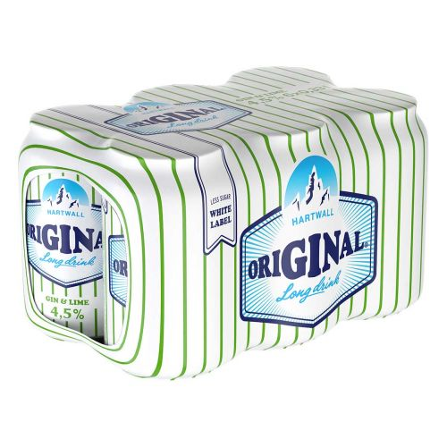 ORIGINAL LONG DRINK WL 4,5% GIN & LIME 0,33 TLK 6-PACK 1,98 L