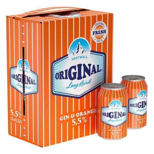 ORIGINAL LONG DRINK 5,5% ORANGE 0,33 TLK 12-PACK 3,96 L