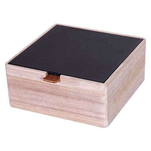 LUHTA HOME BOX TUULI 16X16X7CM MUSTA