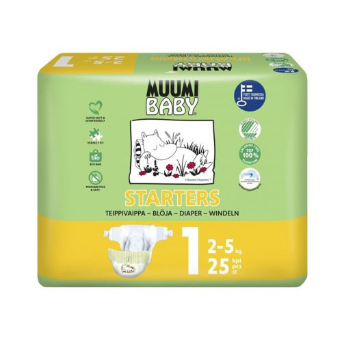 MUUMI BABY NEW BORN 1, 2 5KG 25 KPL