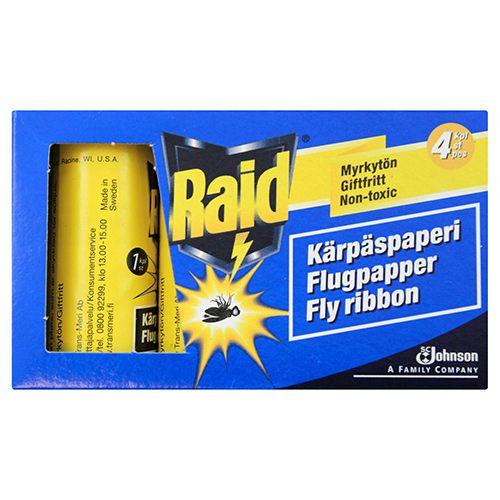 RAID KÄRPÄSPAPERI / FLUGPAPPER 4KPL 4 KPL