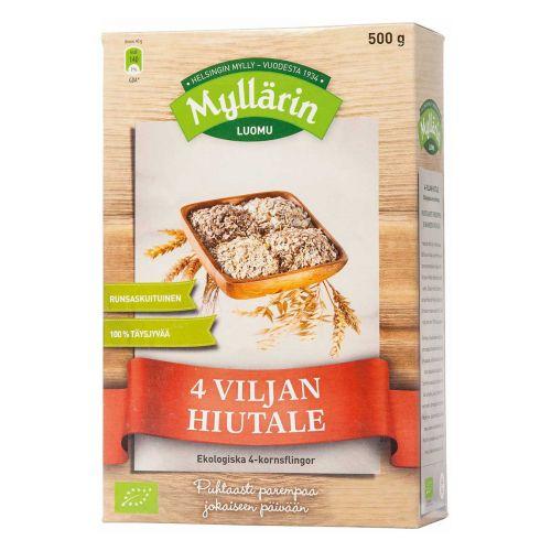 MYLLÄRIN LUOMU 4-VILJAN HIUTALE 500 G