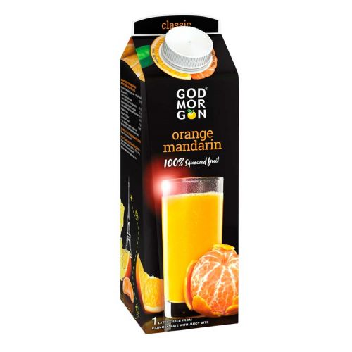 GOD MORGON CLASSIC ORANGE-MANDARIN 100% JUICE 1L