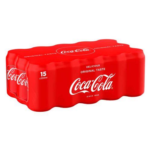 COCA-COLA 0,33 TLK 15-PACK SHRINK 4,95 L