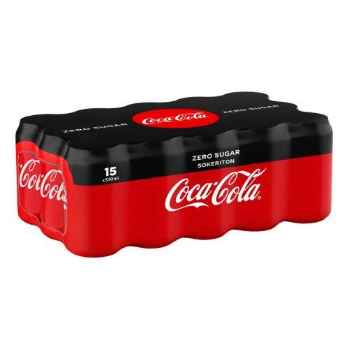 COCA-COLA ZERO 0,33 TLK 15-PACK SHRINK 4,95 L