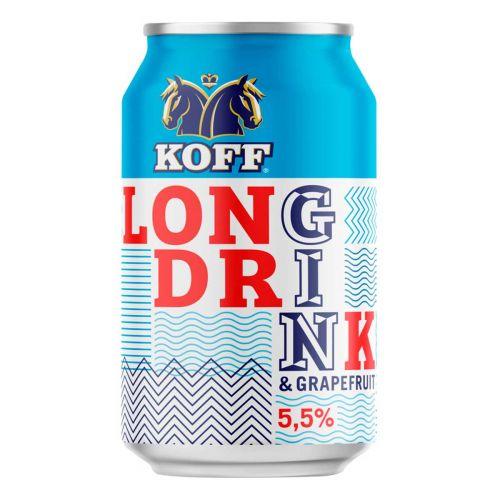 KOFF LONG DRINK 5,5% GRAPEFRUIT TLK 330 ML