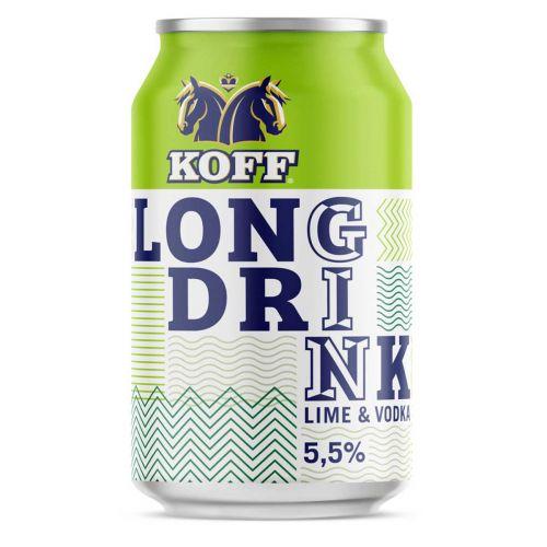KOFF LONG DRINK 5,5% LIME TLK 330 ML