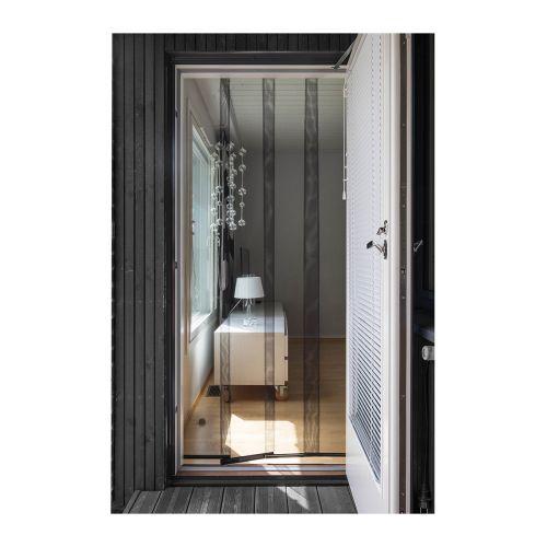 Ötökkä 4-lamelli oviverho eco 95 x 215 cm, musta